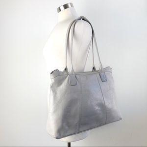HOBO the Original | Gray Soft Leather Tote Bag